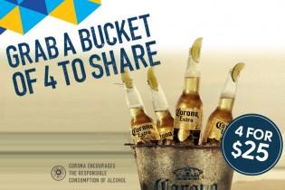 Corona Bucket Promo