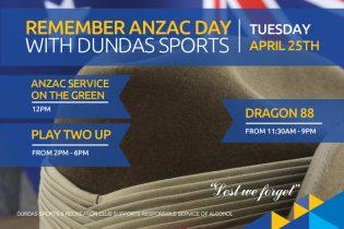 Anzac Day at Dundas Sports Club